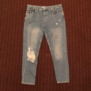 topshop moto hayden ripped jean